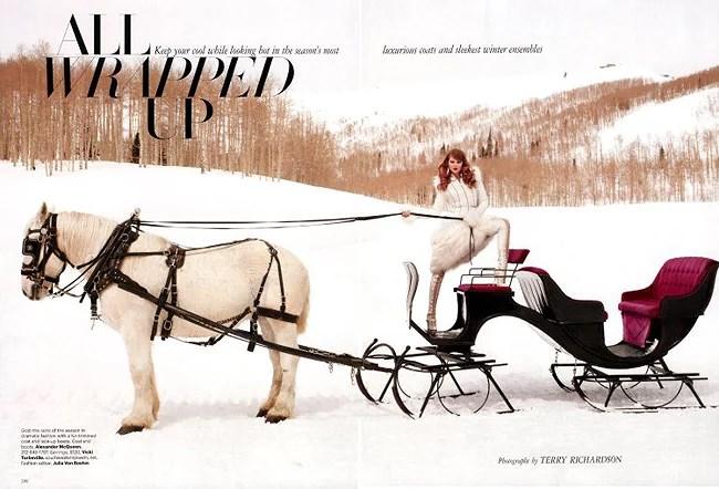 Eniko Mihalik por Terry Richardson para Harper's Bazaar Nov'11