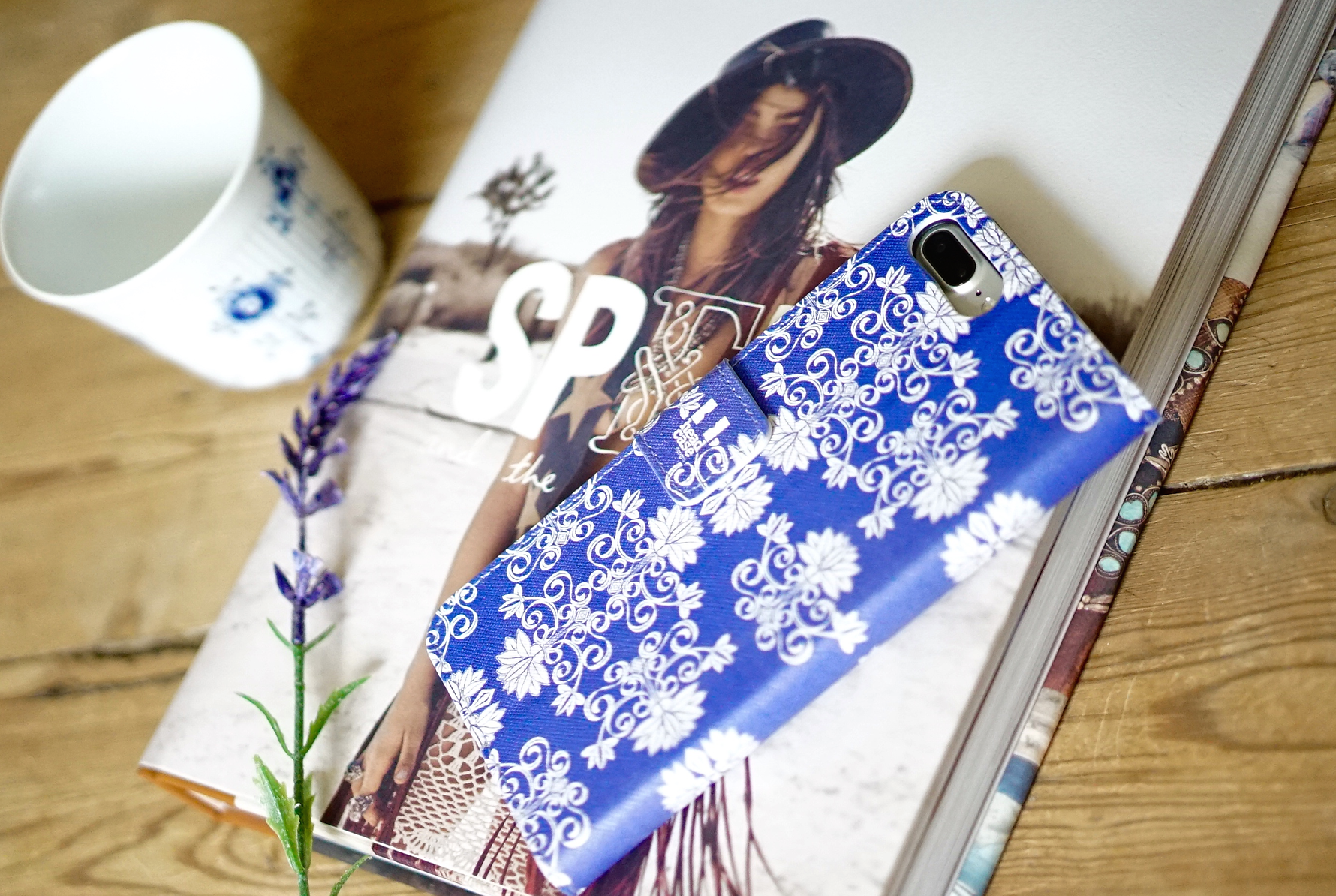 Royal Blue Boho Phone