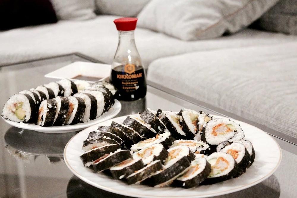 Vellykket forsøk på sushi