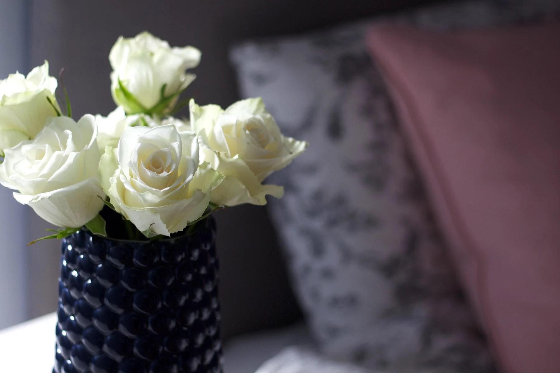 Having fresh flowers at home.