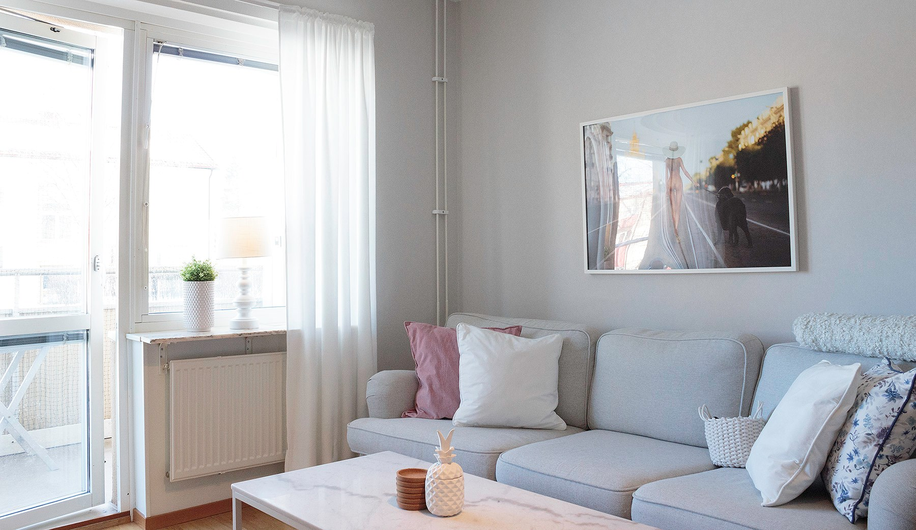 Mitt vardagsrum + Nya gardinerna!