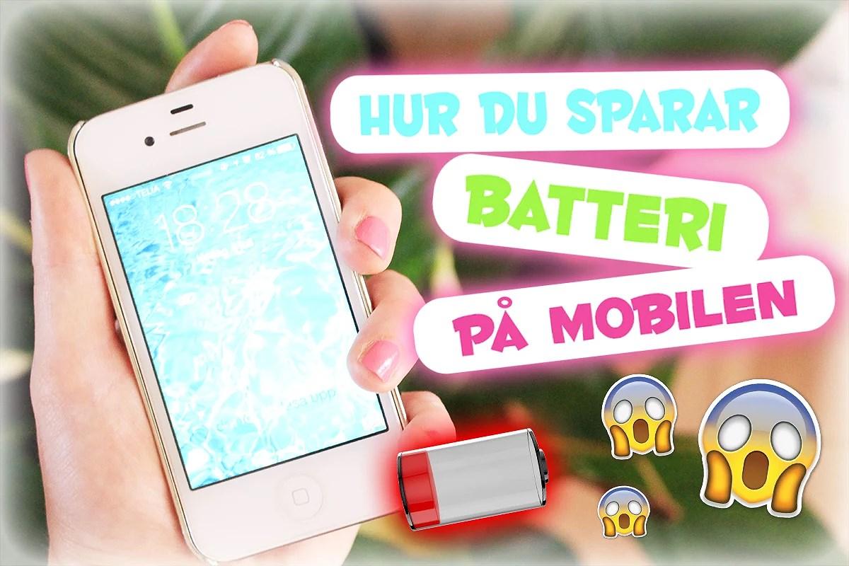 Så sparar du batteri på mobilen.