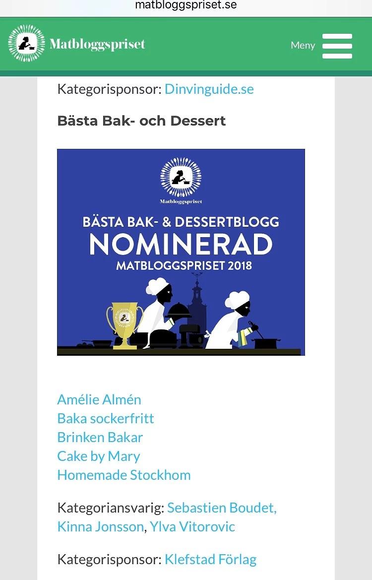 Årets Bästa Bak- & Dessertblogg