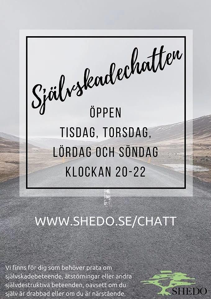 Ta till vara på möjligheten att chatta om du mår dåligt - Shedo kan hjälpa!