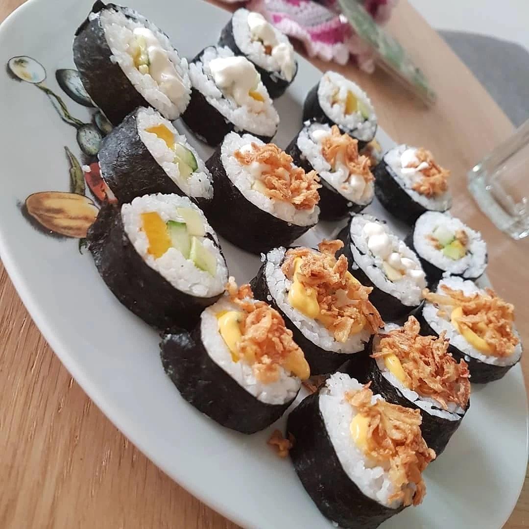 Hemmagjord sushi - jag fixade det!