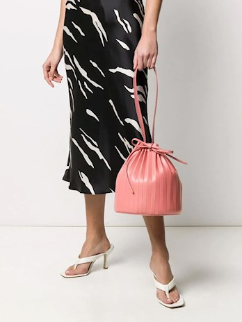 PINK BUCKET BAG, PINK, PLEATED