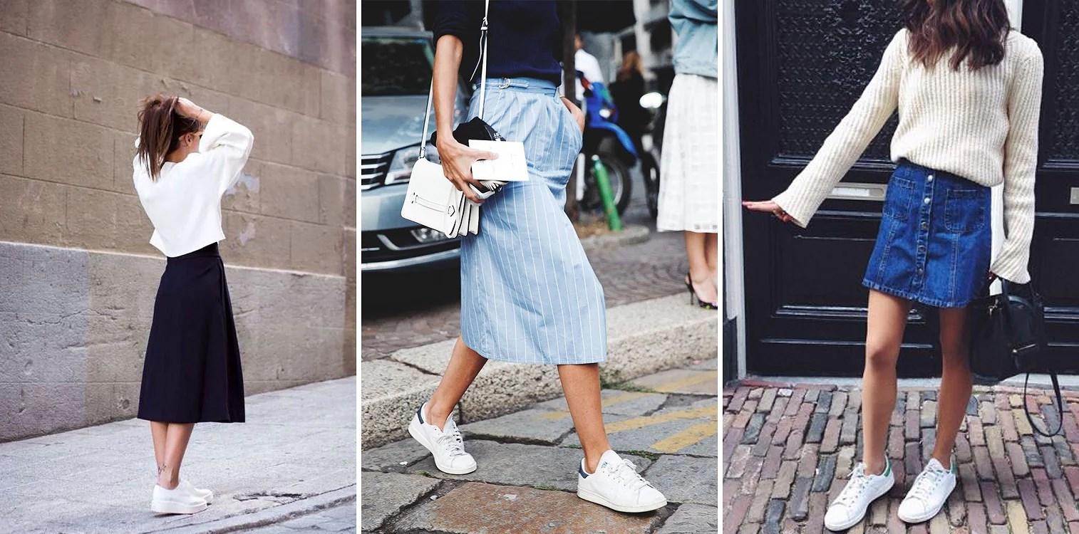 adidas-superstar-with-midi skirt