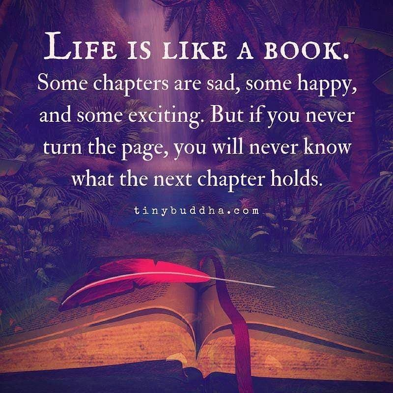 Livet är som en bok.