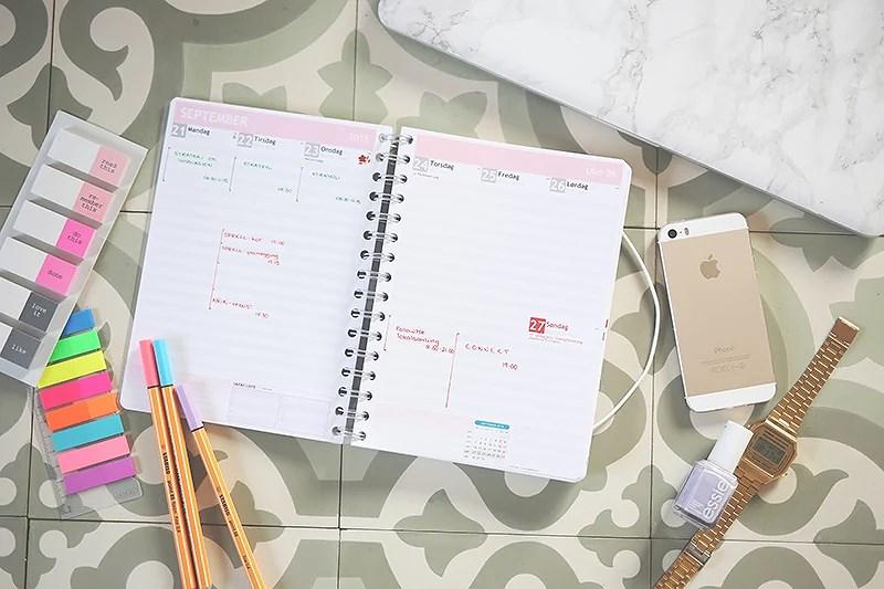 krist.in personlig almanakk planlegger kalender kontor