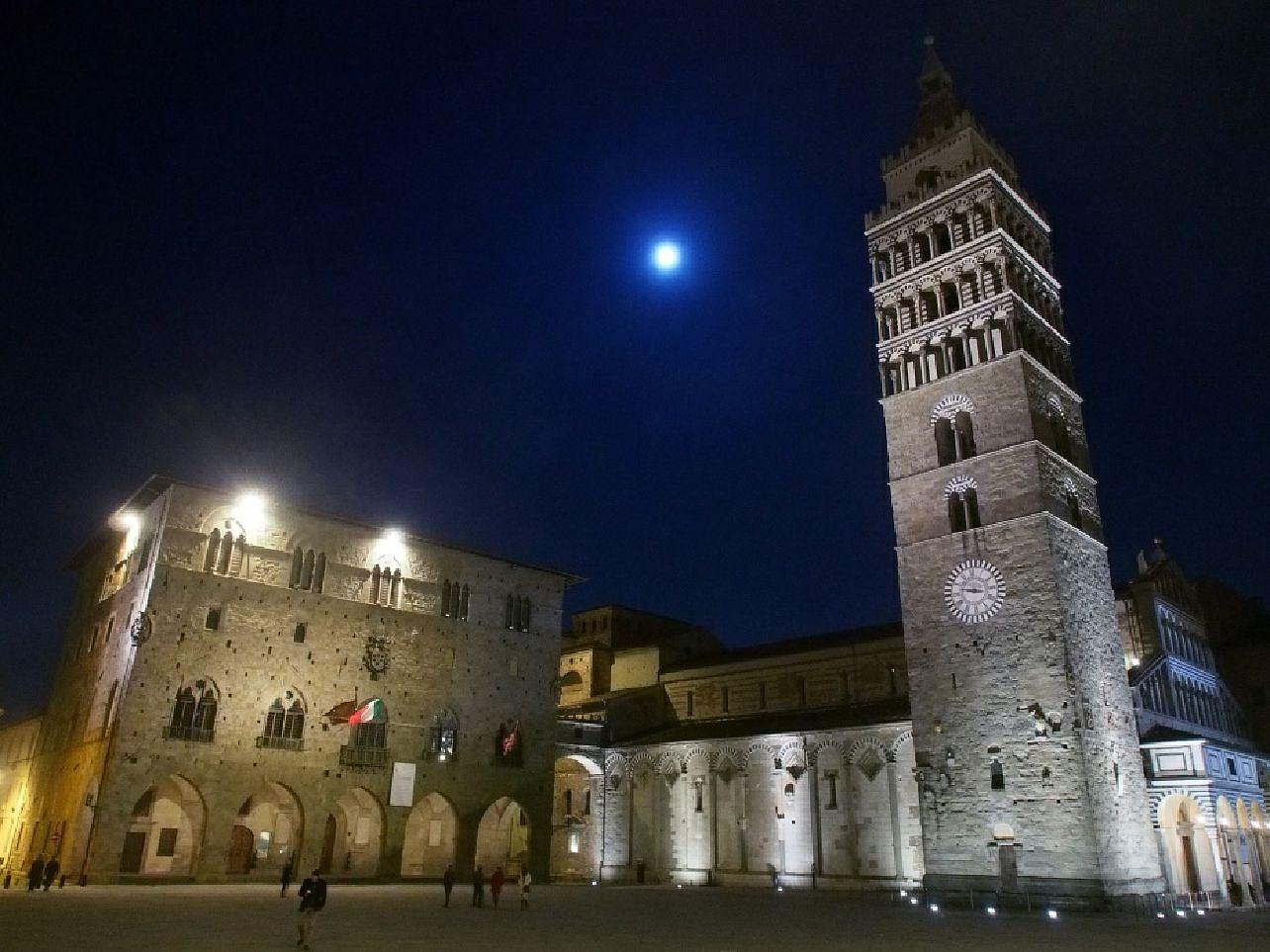 Pistoia i regionen Toscana i Italien