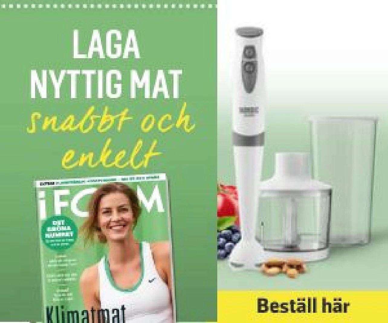 Cashbackshopping.se 4 nummer av Form plus stavmixer-set från Nordic för bara 149kr