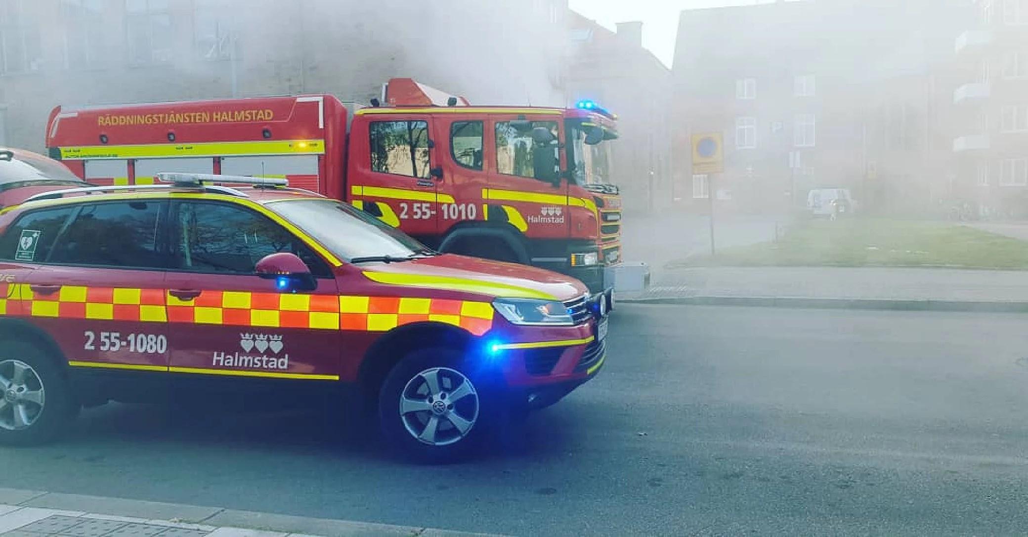 Brandövning på jobbet