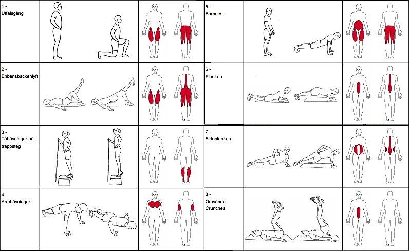 övningar med kroppsvikt