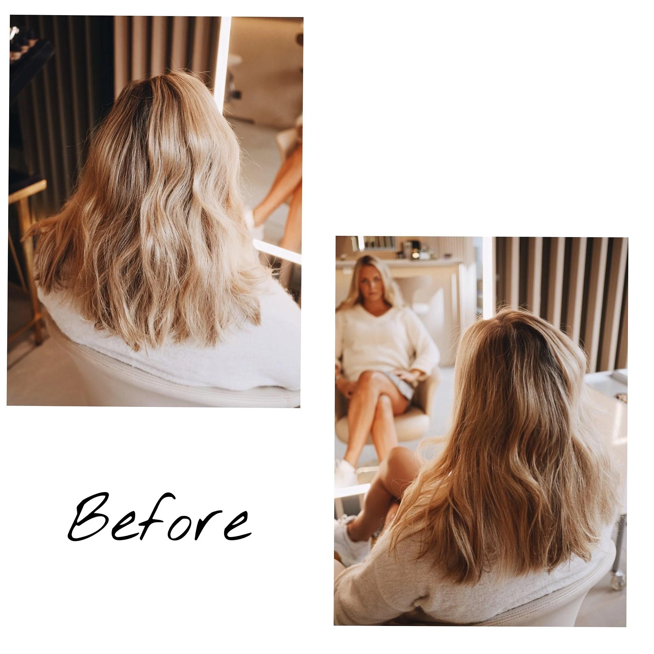 mitt hår före/efter