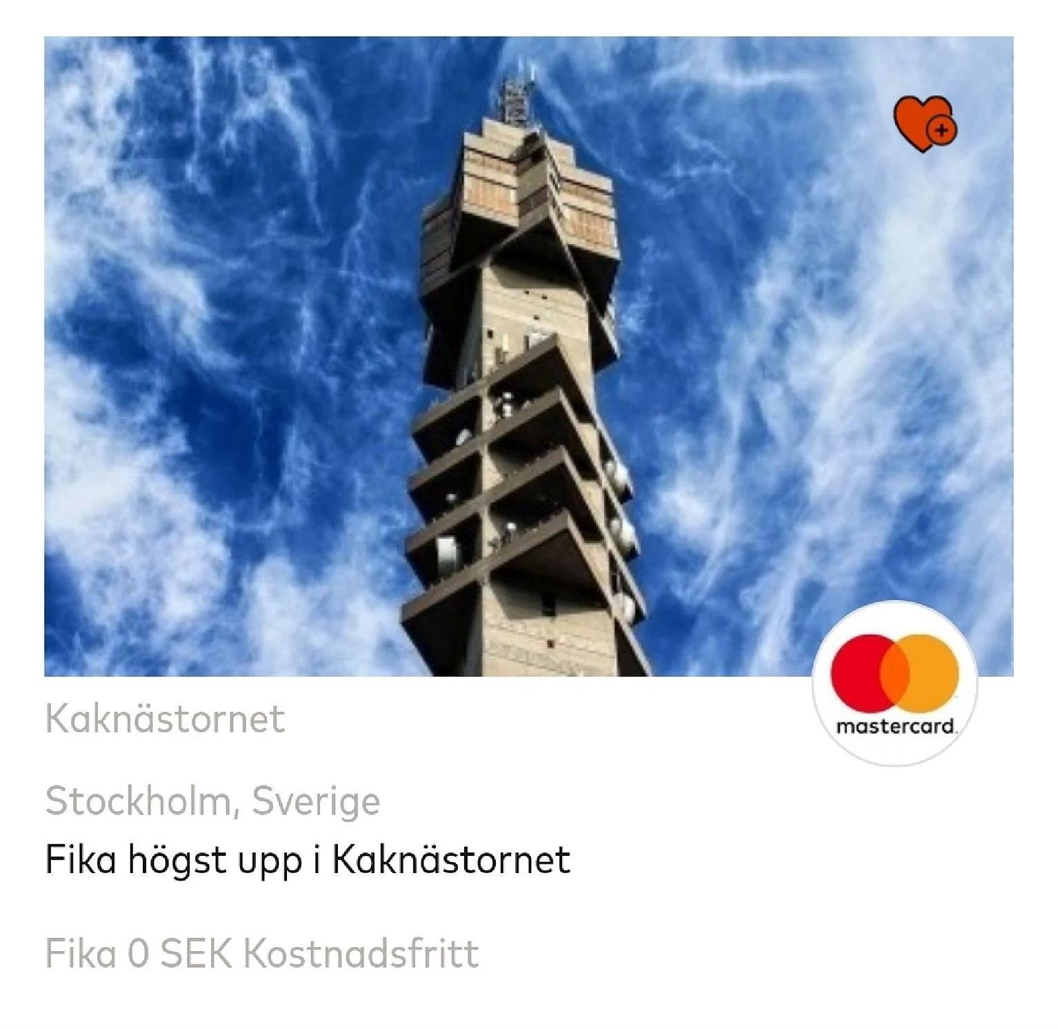Fika gratis i Kaknästornet...
