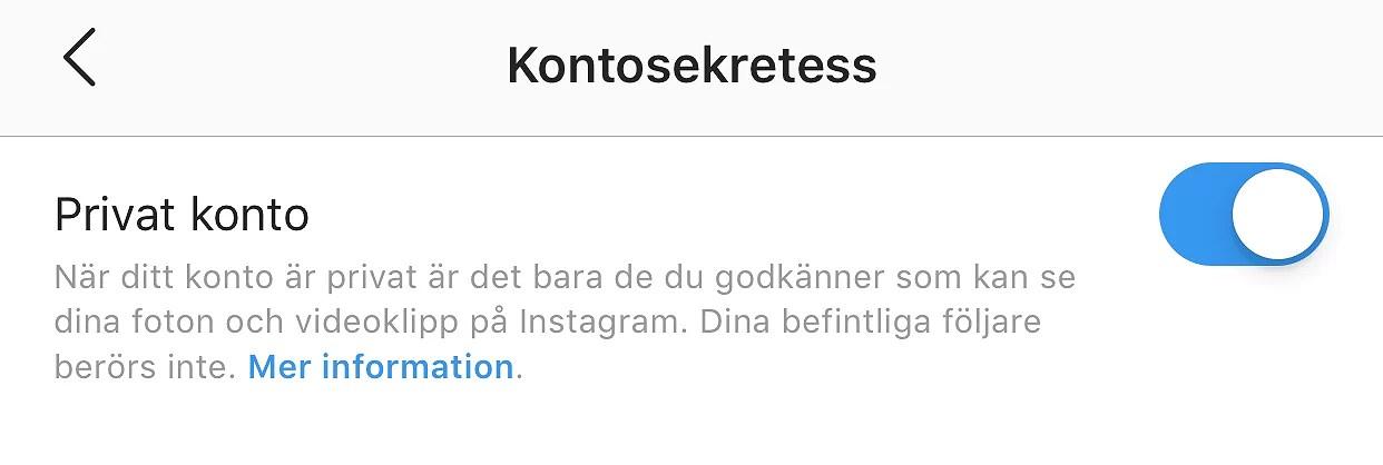 """SVAR PÅ FRÅGA   """"PRIVAT KONTO"""""""
