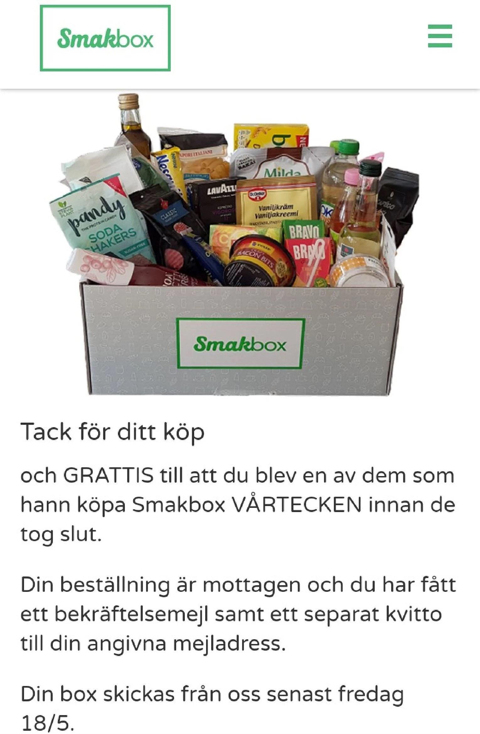 Favoritboxen smakbox