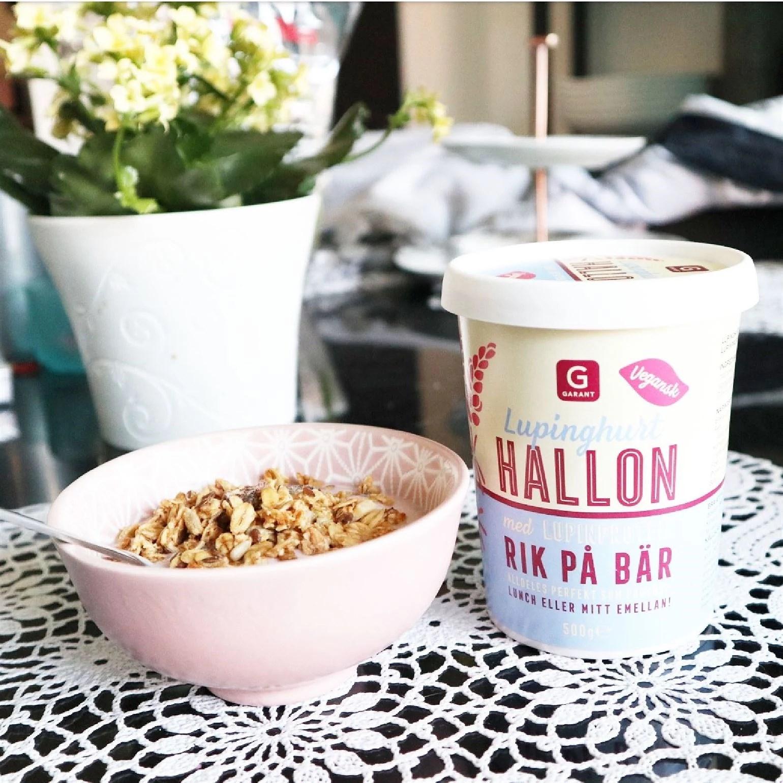 Garant lupinyoghurt / lupinghurt med hallonsmak