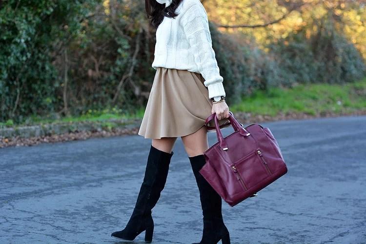 Zara_Skirt_Falda_Botas-altas_ootd_fashion_boots_okeysi_burdeos_09