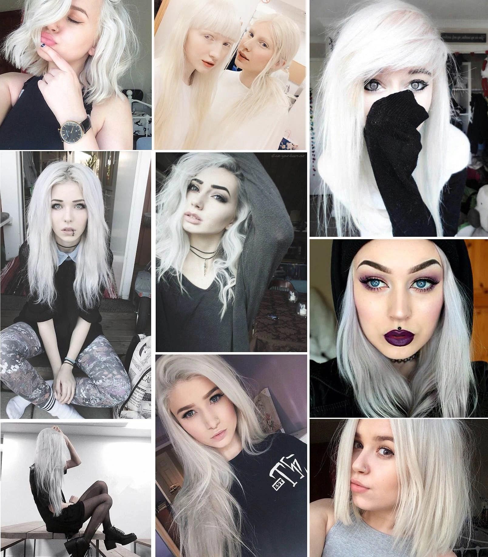 White hair inspo
