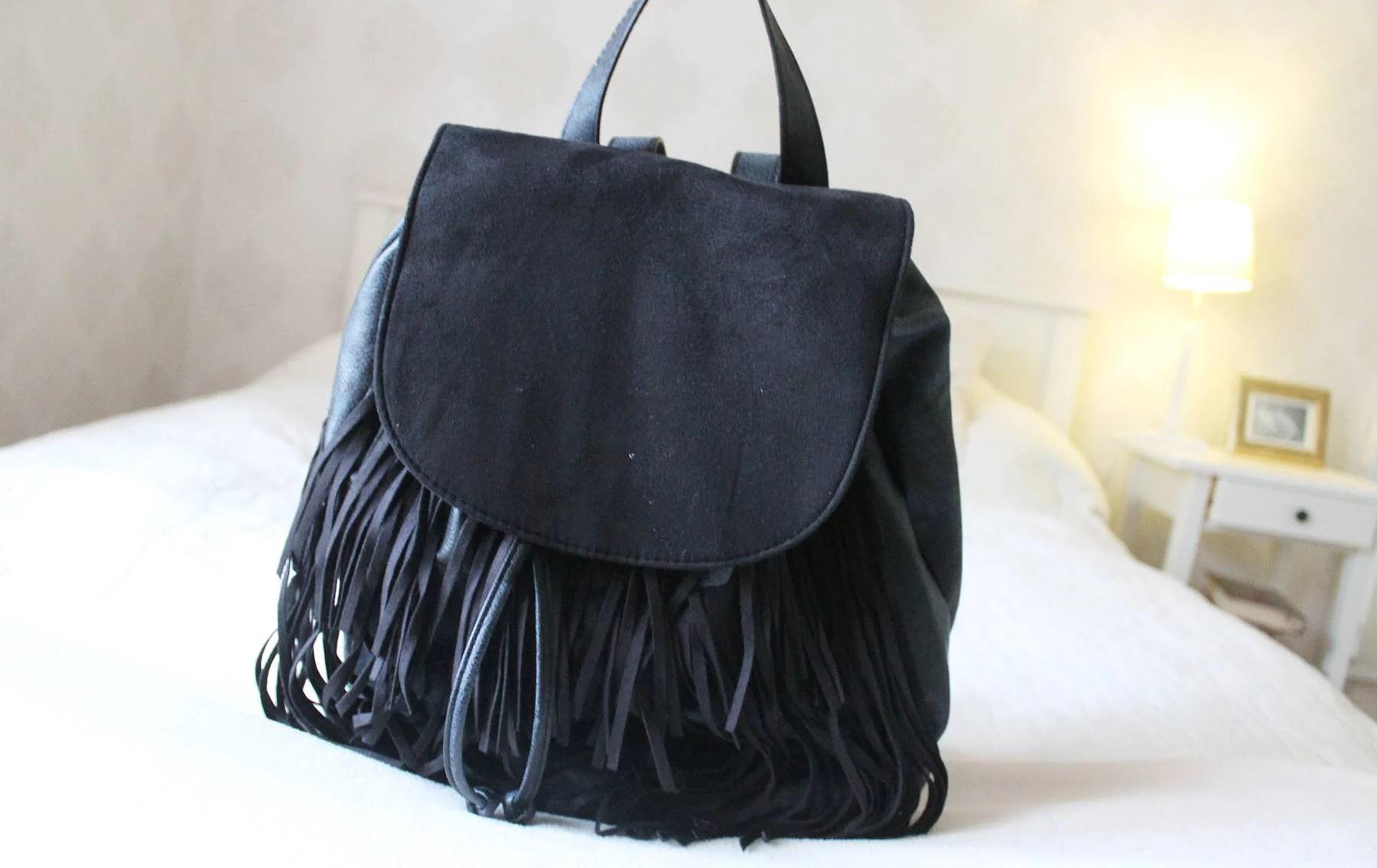 Fringe backpack
