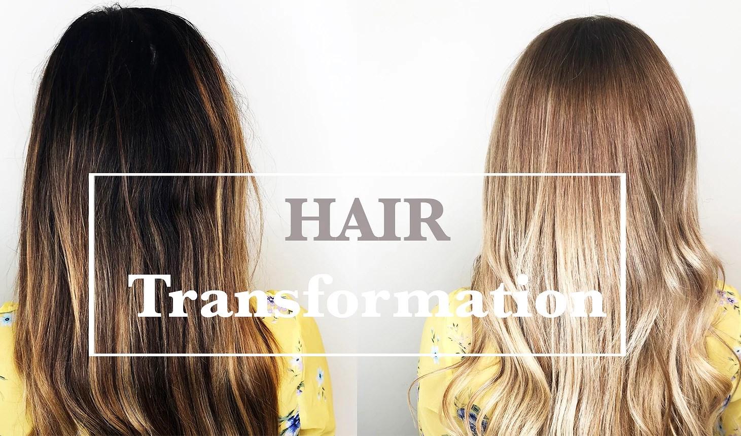 VIDEO: Fra mørkt til lyst hår!