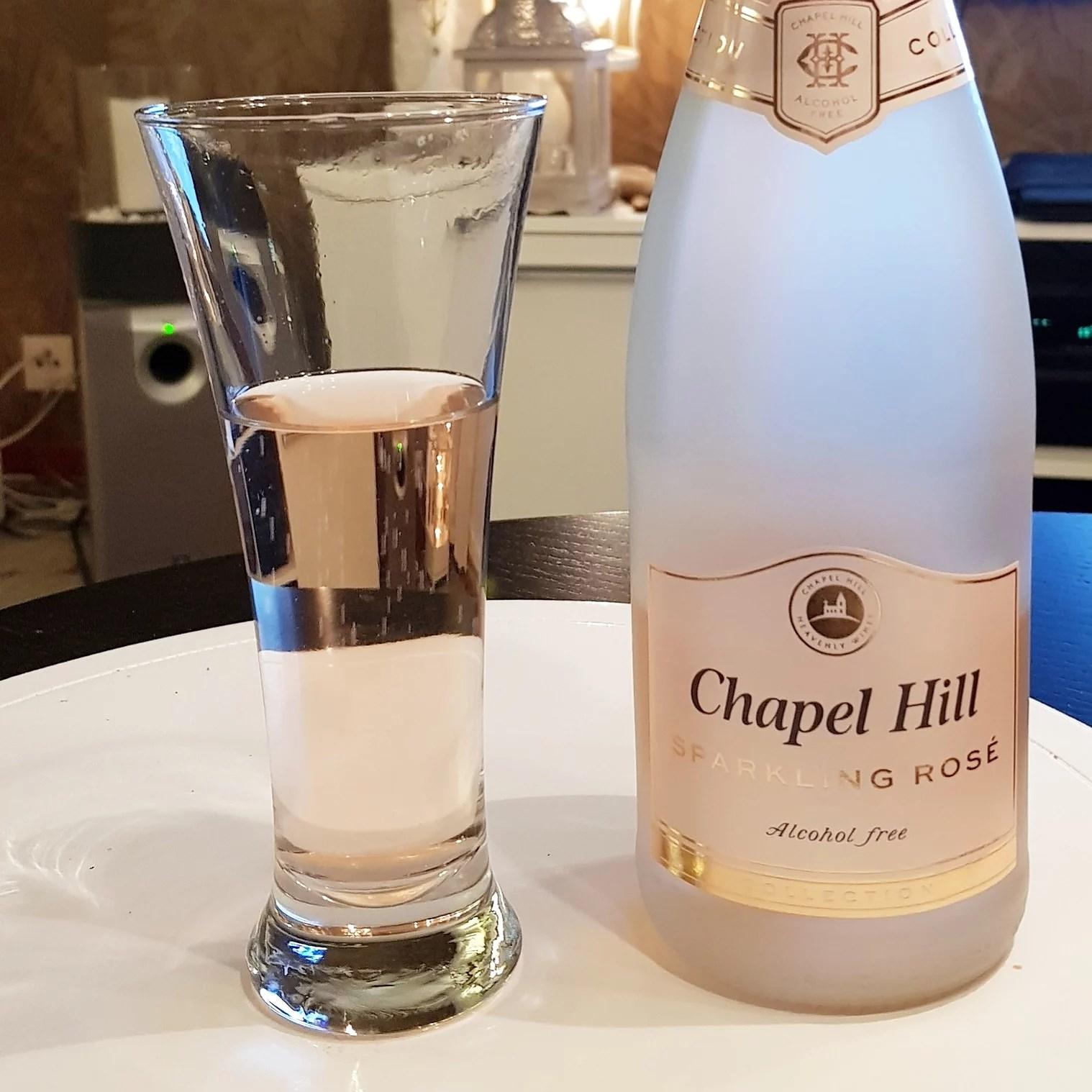 En flaska gott alkoholfritt bubbel