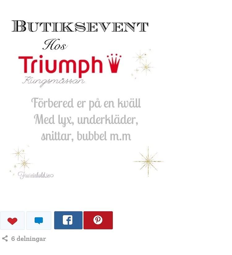BUTIKSEVENT TRIUMPH