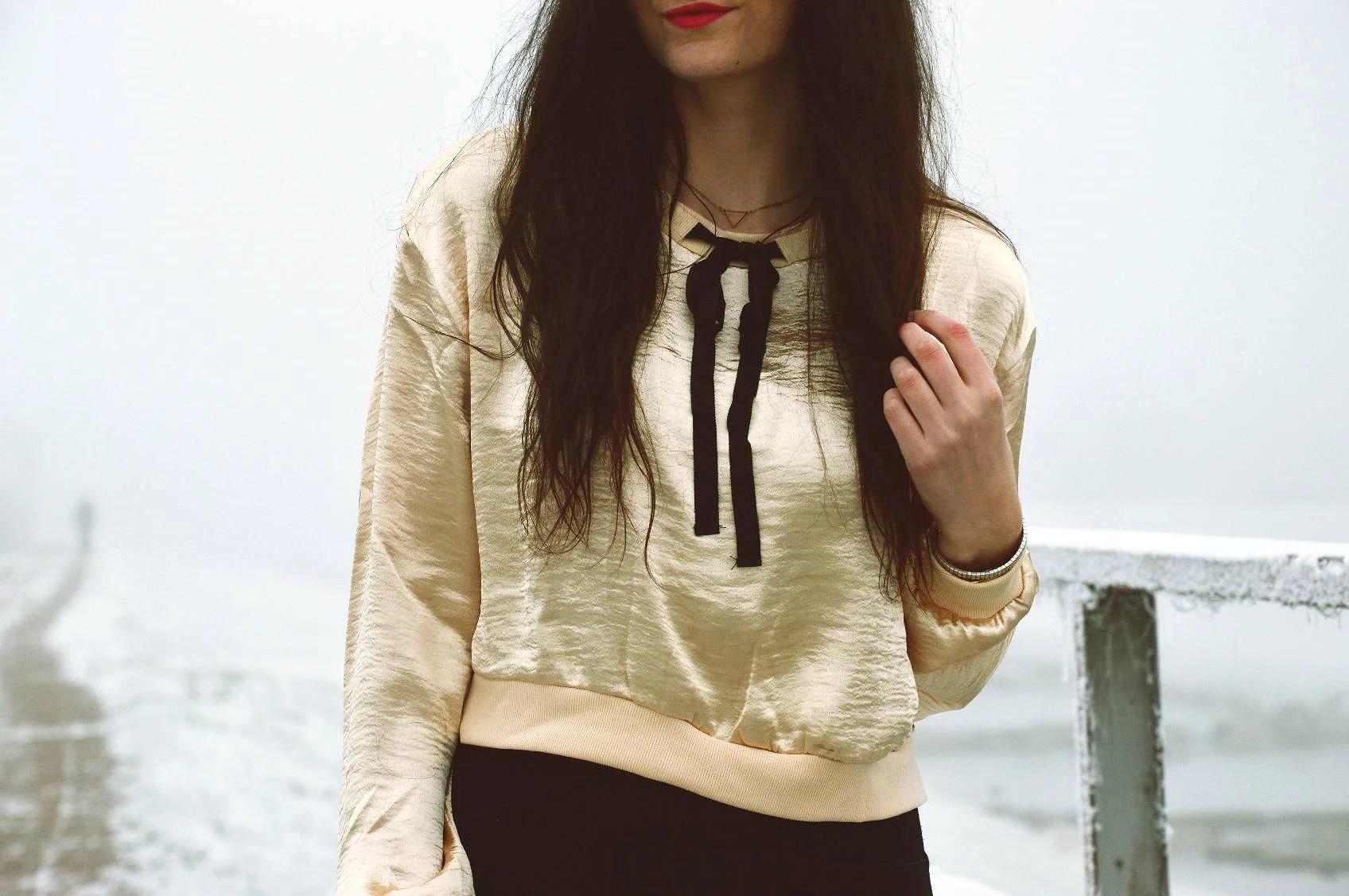 romwe, bluzka, stylizacja, outfit, magiclovv, brunetka, fashion, moda,