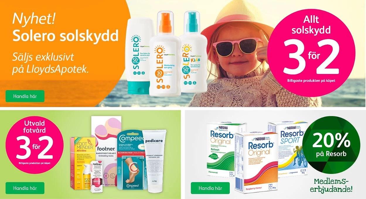 Lloyds apotek rabattkod + billigt solskydd