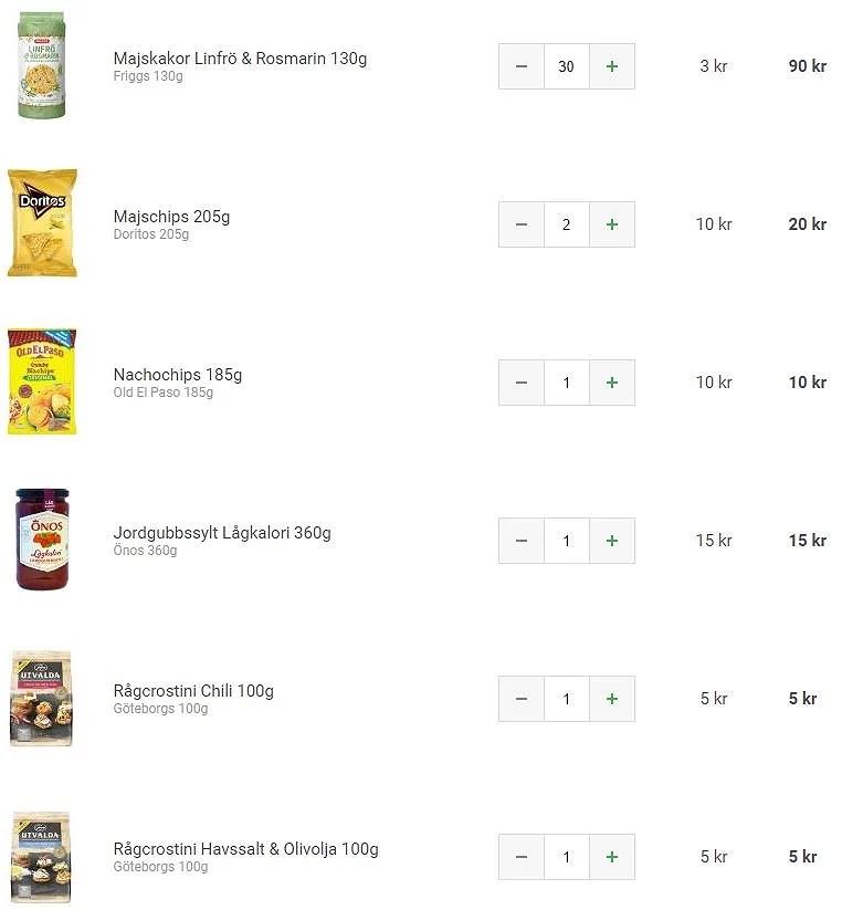 Matsmart beställning + rabattkod