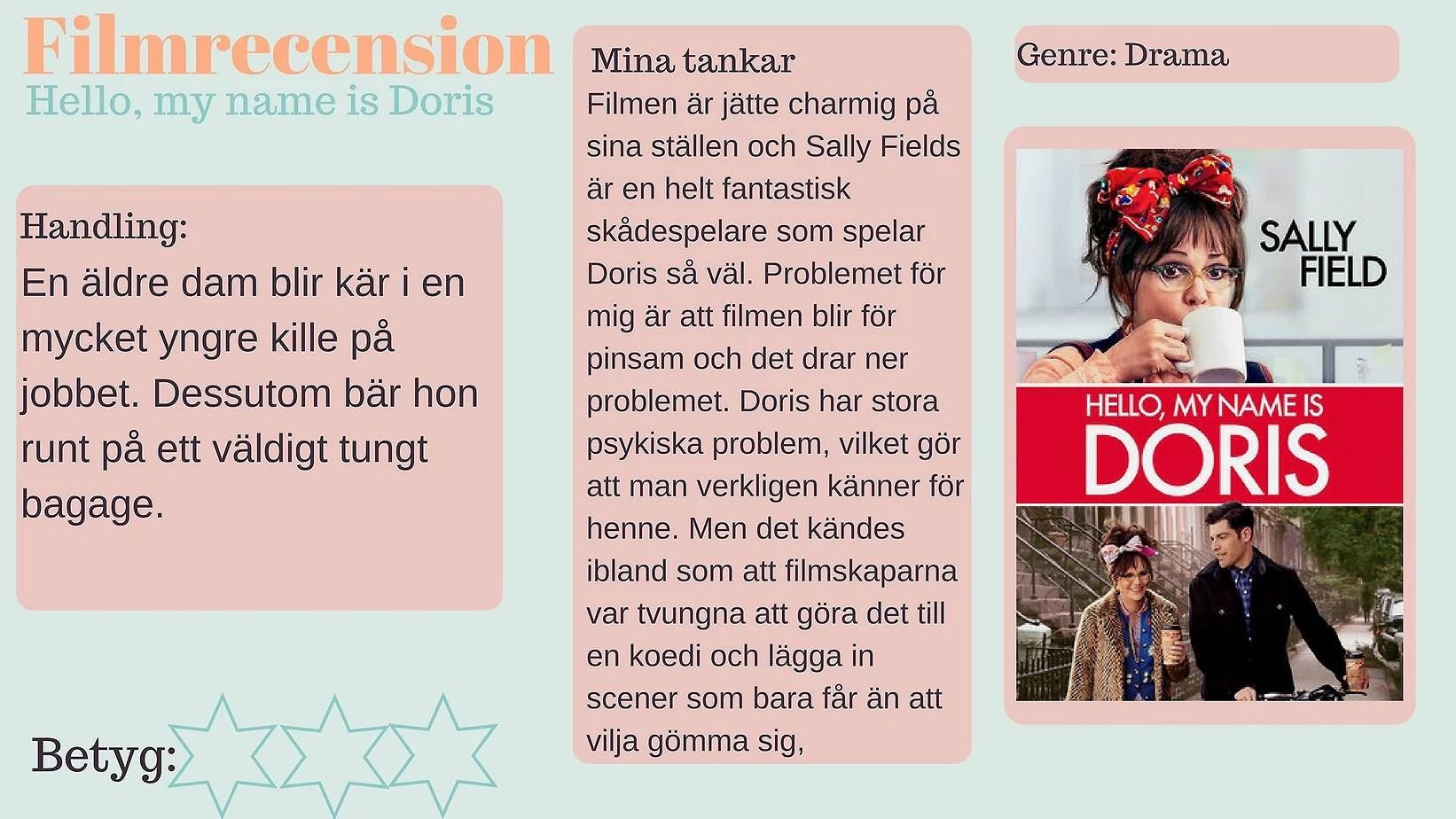 Filmrecension - Hello, my name is Doris