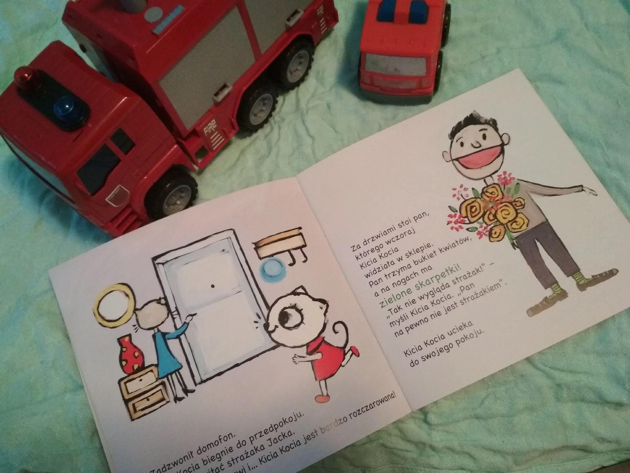 Kicia Kocia i prawdziwy strażak