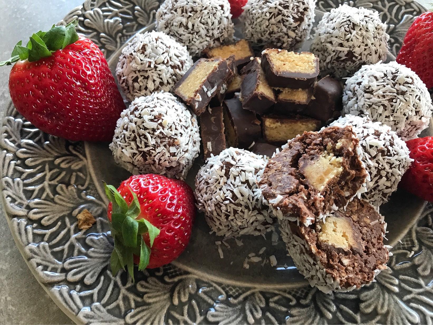 Chokladbollar med coconutgömma
