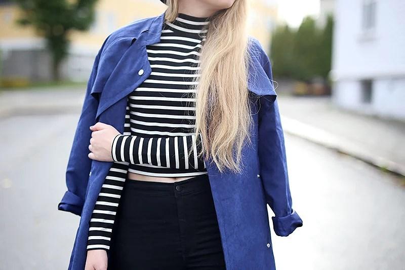 krist.in style antrekk jakke trenchcoat shein stripete topp cubus