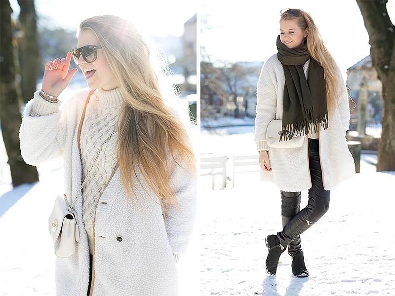 krist.in outfit stavanger leather pants zara knitwear zara jacket shein teddycoat winter style