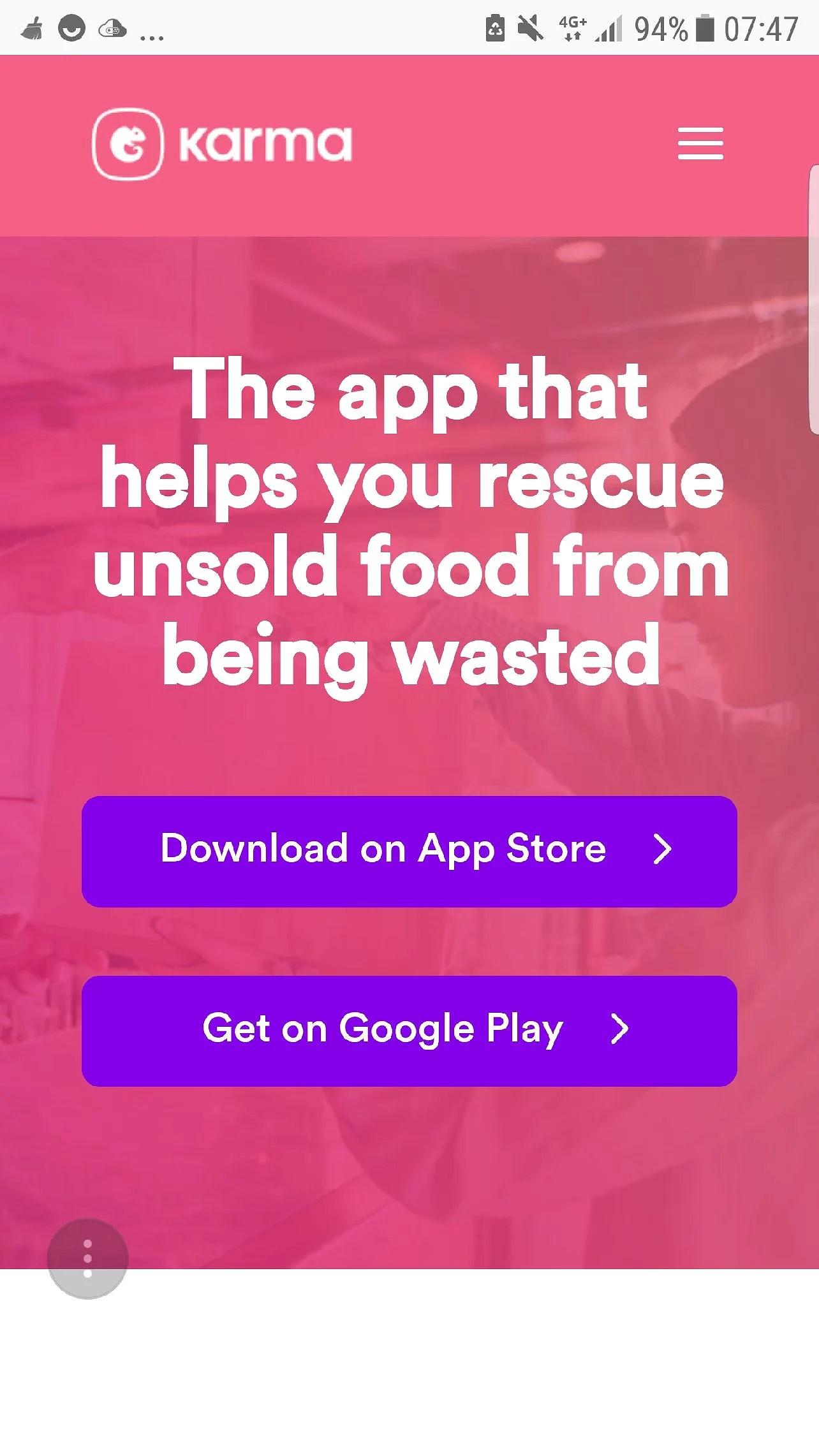 Använd appen Karma och få 25kr rabatt