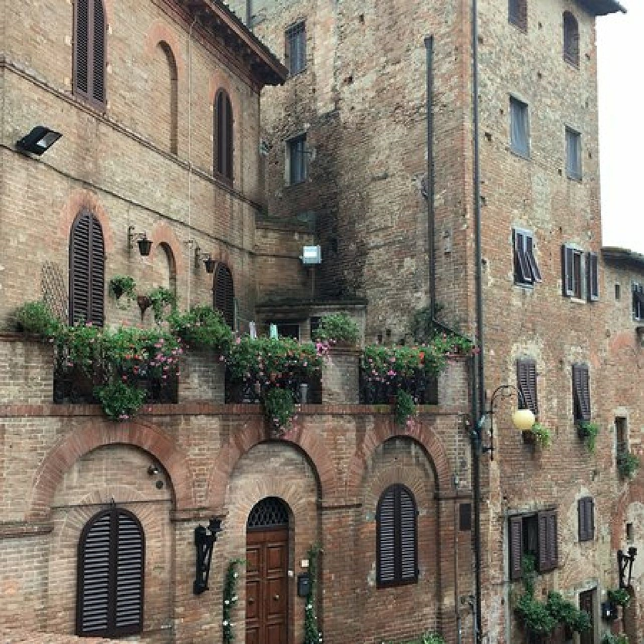 Certaldo i regionen Toscana i Italien