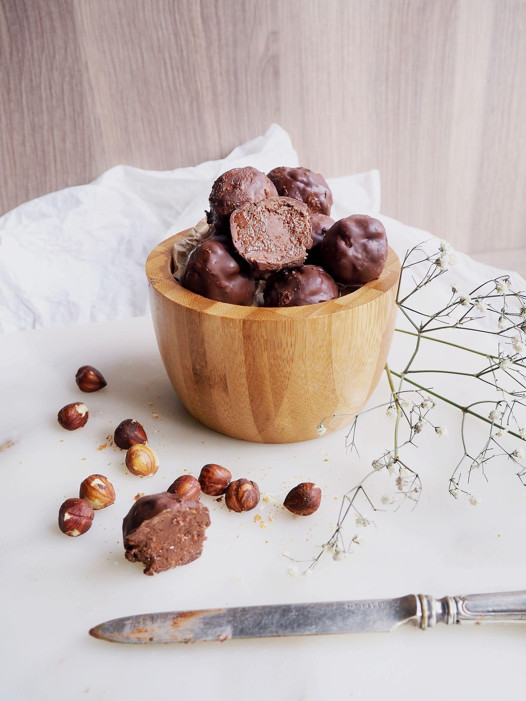 Vegan Chocolate Nougat with Hazelnut