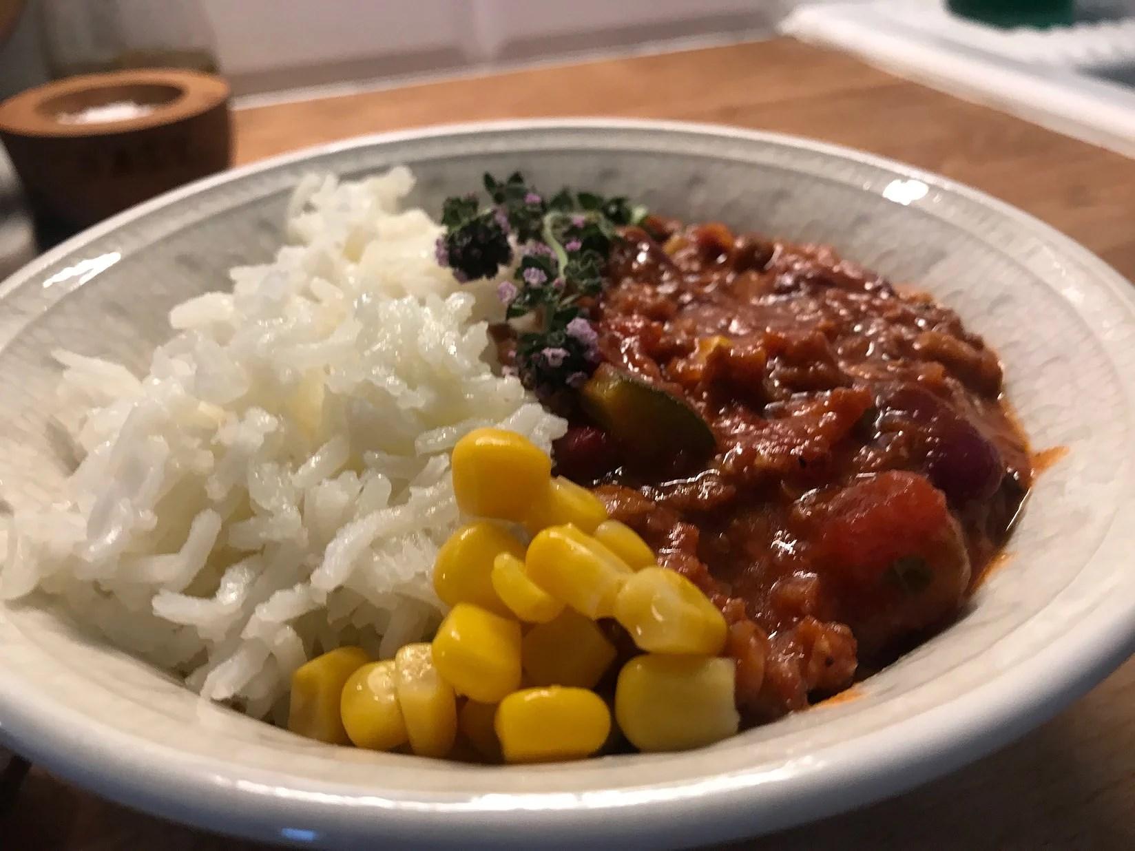 En proteinrik vegan middag efter träningen
