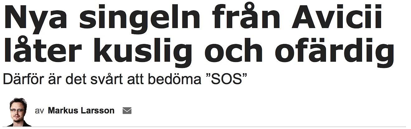 Aftonbladet ger Avicii's nya singel två plus.