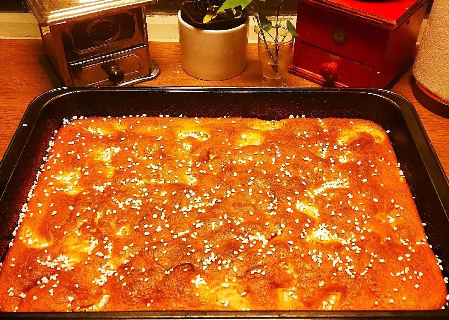 Bakade en äppelkaka ikväll