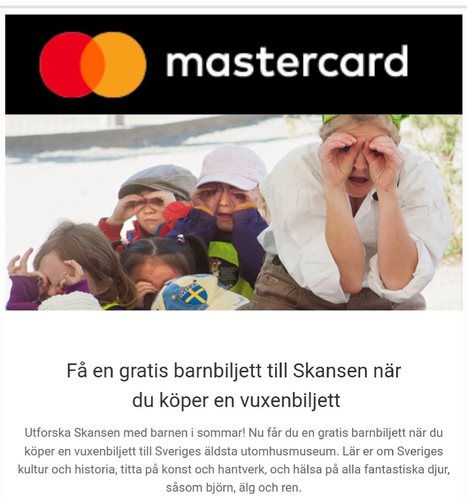 Få barnbiljett till Skansen på köpet...