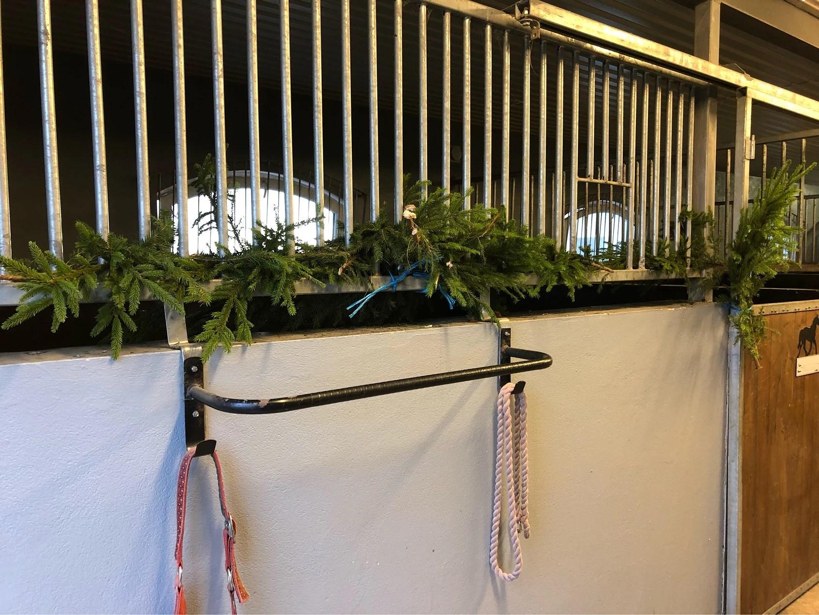 Julpyntat till hästarna!