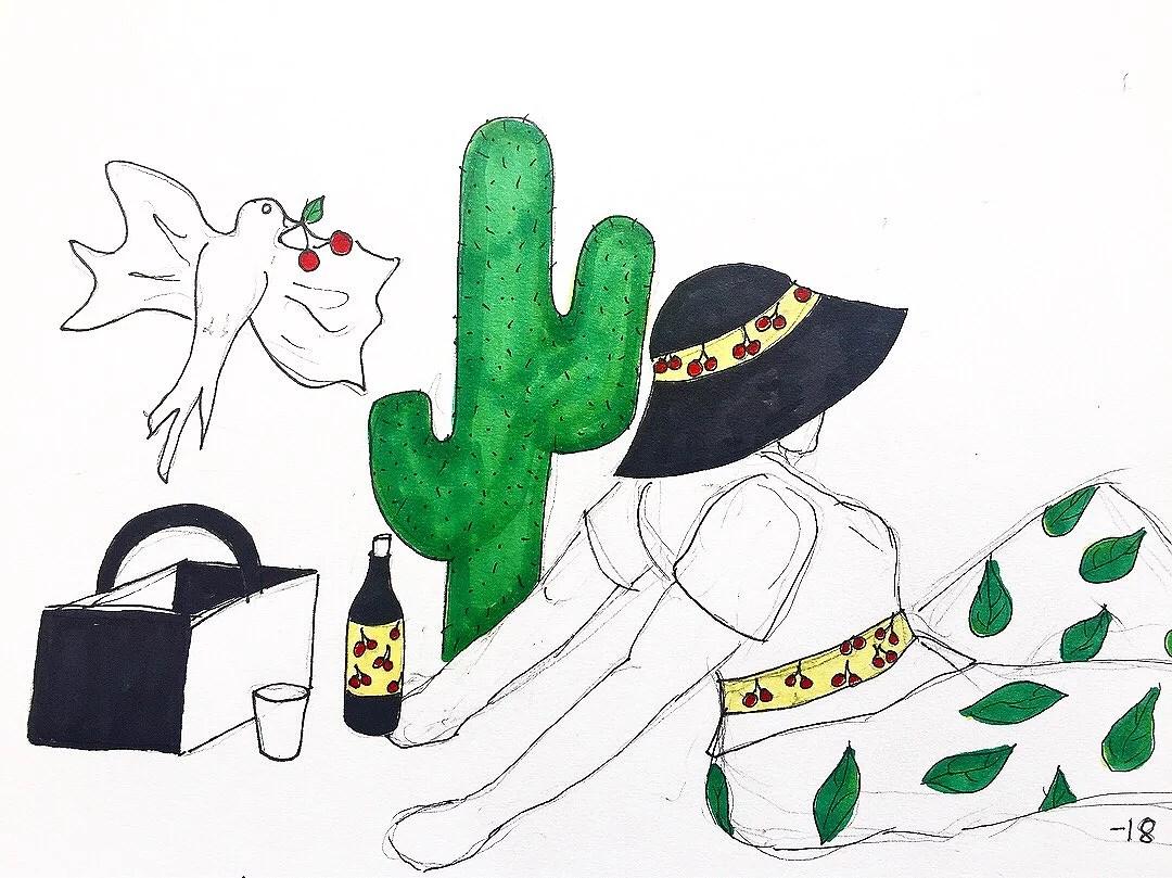 A lil picnic drawing