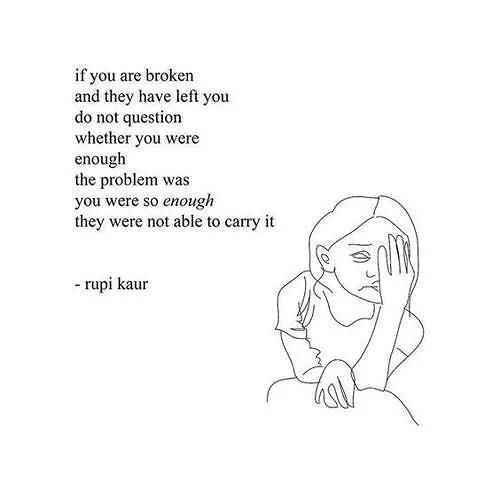 So enough