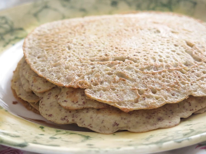 Mandelpannkakor till frukost