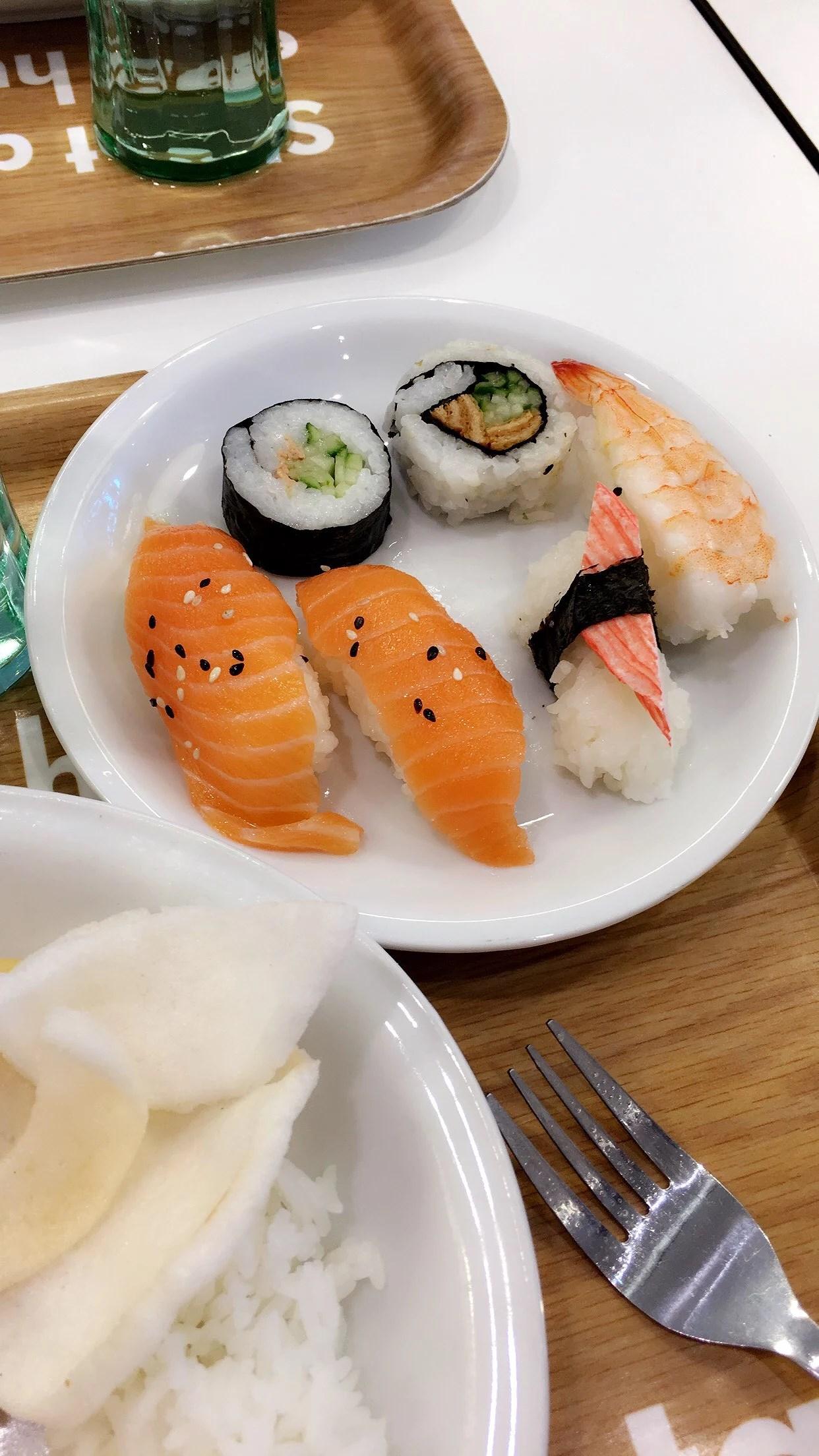 Sushi och shopping