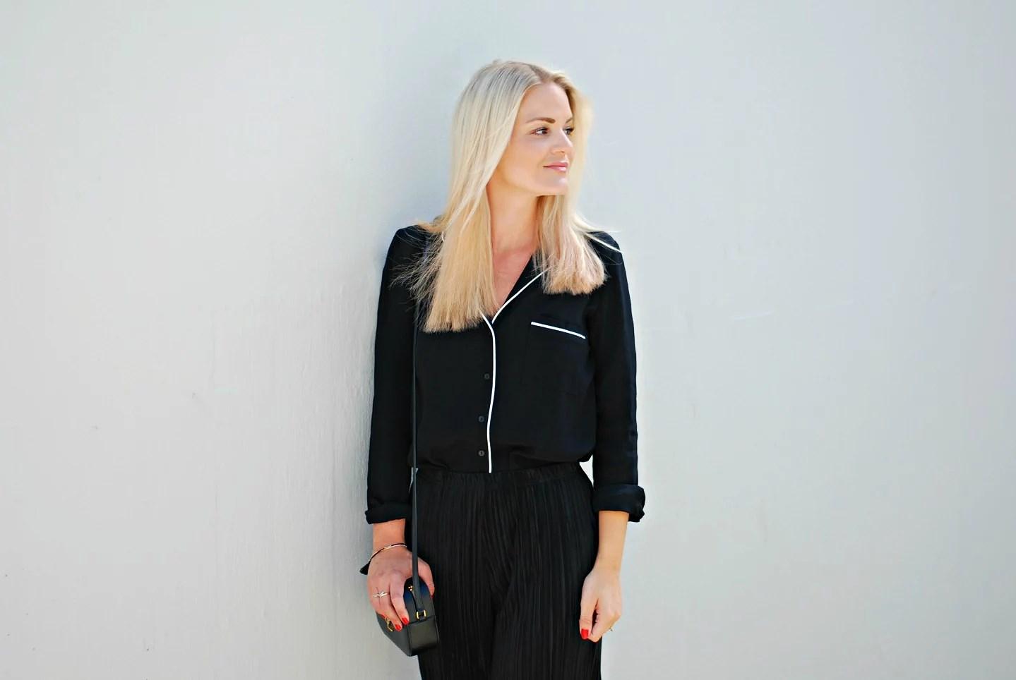 asos black pyjamas