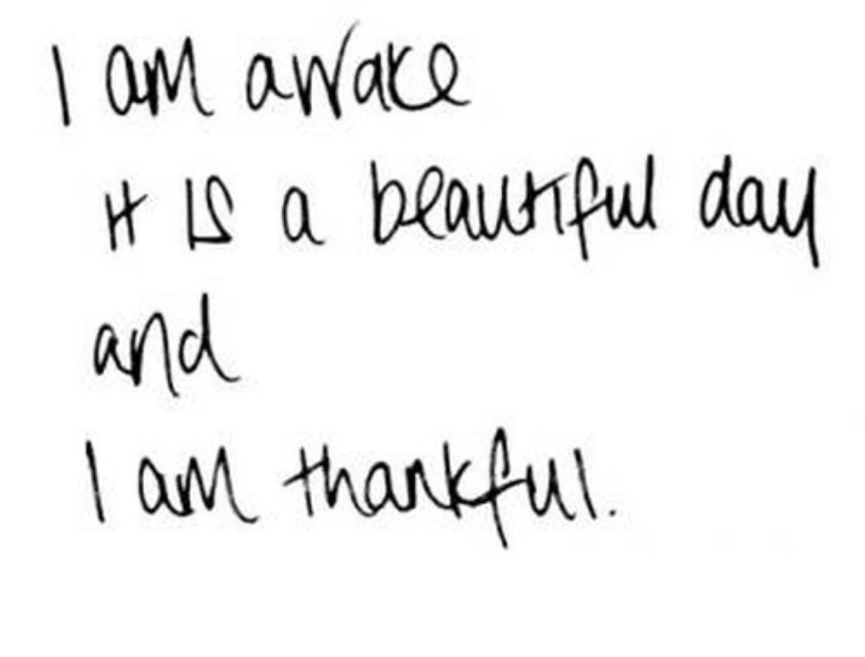 Tre saker jag är tacksam över just nu!
